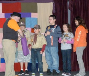 cub scouts with magician