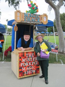 The magic shack is a unique mobile stage.