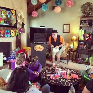 birthday party with magician